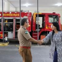Homenagem ao Dia da Mulher, no Corpo de Bombeiros do Paraná