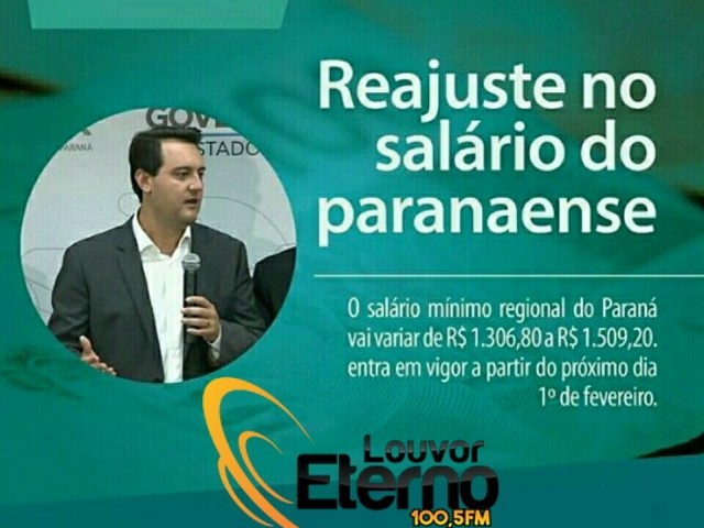 Salário mínimo regional do Paraná